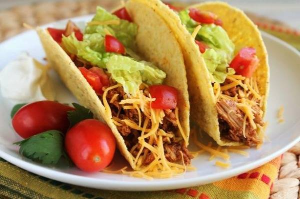 The chicken tacos